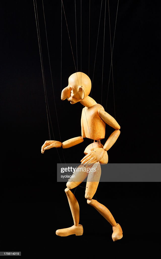 Puppet on the strings : Stock Photo