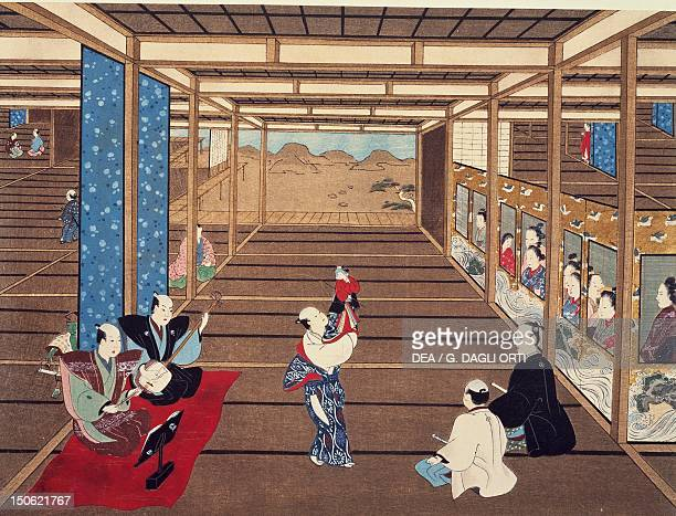 Puppet show kakemono by Torii Kiyomasu I Japan Japanese Civilisation 17th18th century