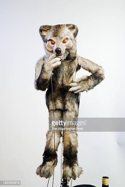 Puppet The Big Bad Wolf of the Puppet Company on September 27 2011 in Glen Echo Maryland