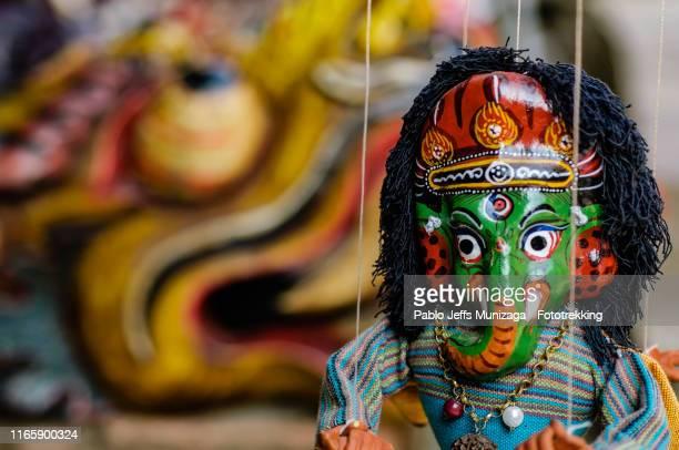 puppet with the figure of ganesh - バクタプル ストックフォトと画像
