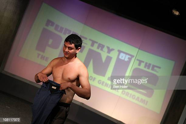 A puppeteer attends the 'Puppetry of the Penis' open casting call at The Green Room Theater on July 27 2010 in New York City