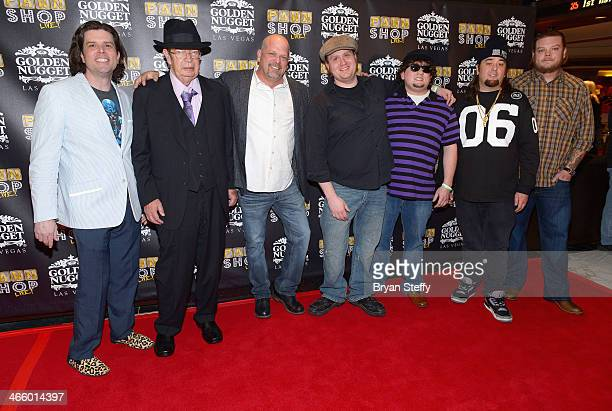 Puppeteer Enoch Scott Richard 'The Old Man' Harrison Rick Harrison and actors Gus Langley and Garret Grant and Austin 'Chumlee' Russell and Corey...