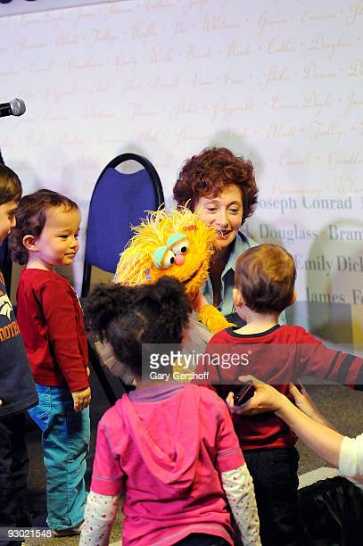 Puppeteer Fran Brill with 'Sesame Street' puppet Zoe entertains children at Sesame Street A Celebration of 40 Years of Life on the Street at Barnes...