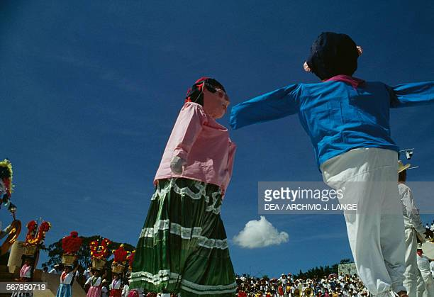 Puppets during the celebrations at the Guelaguetza festival Oaxaca Mexico