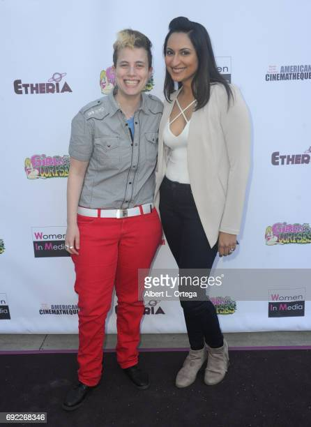 Puppett and Zehra Fazal arrive for Etheria Film Night held at The Egyptian Theatre on June 3 2017 in Los Angeles California