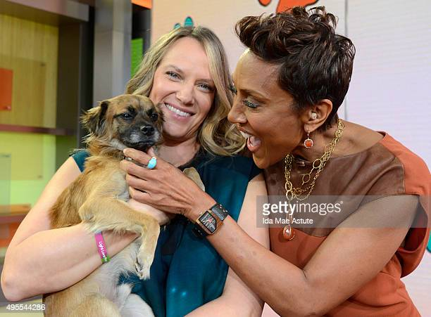 The North Shore Animal League brought puppies who are up for adoption to GOOD MORNING AMERICA 11/3/15 airing on the Walt Disney Television via Getty...
