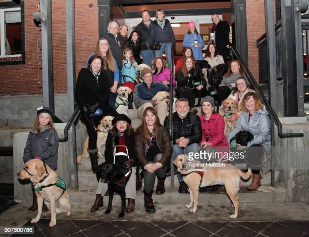 Puppy parade' of local guide dogs for the blind 'puppies-in-training' walk up Main Street and pose for a photo at the Slamdance Film Festival...