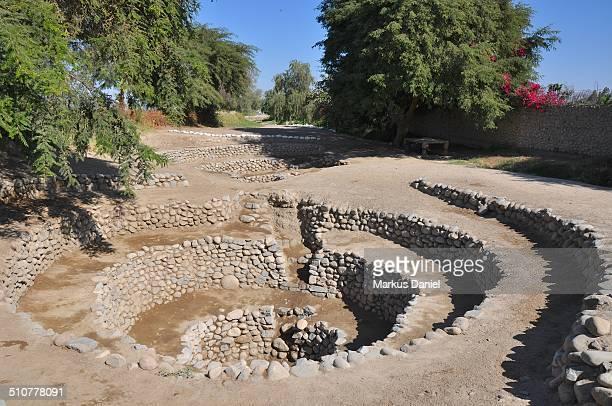"puquios system of aqueducts in nazca peru - ""markus daniel"" imagens e fotografias de stock"