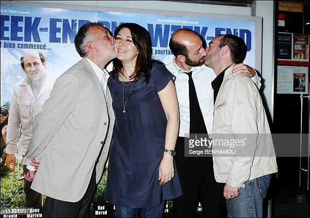 'Pur WeekEnd' Premiere In Paris France On April 23 2007 Francois Berleand Valerie Benguigui Kad Merad Bruno Solo