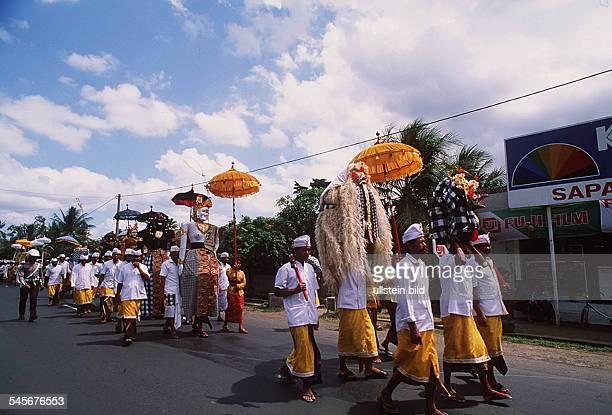 Pura Kehen Bangli Hindu Prozession zum Tempel 1993
