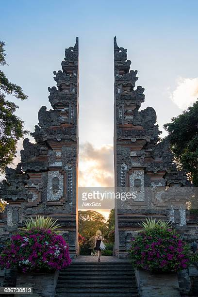 pura lempuyang temple, bali, indonesia - bali stock pictures, royalty-free photos & images