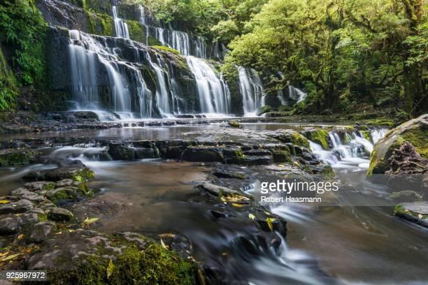Purakaunui Falls, waterfall, The Catlins, Southland, New Zealand