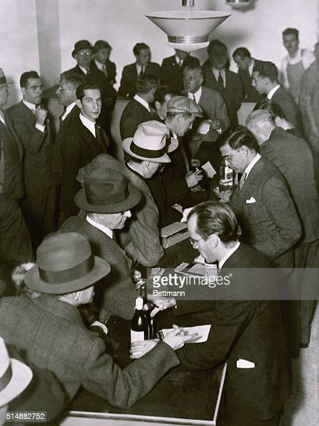 Purchasing Alcohol in a Speakeasy During Prohibition