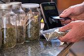 Purchasing legal marijuana at a dispensary