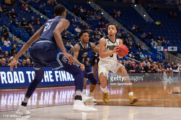 Purdue Boilermakers guard Carsen Edwards drives to the basket during the second half of the NCAA Division I Men's Championship first round college...