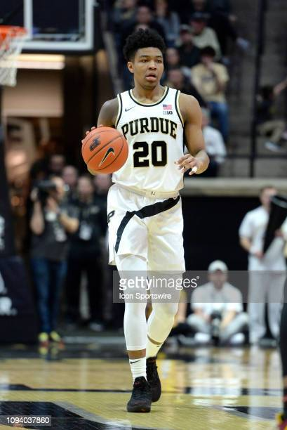 Purdue Boilermakers guard Nojel Eastern dribbles the ball during the Big Ten Conference college basketball game between the Minnesota Golden Gophers...