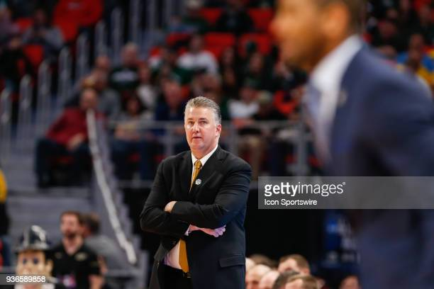 Purdue Boilermakers head coach Matt Painter watches the action on the court during the NCAA Division I Men's Championship Second Round basketball...