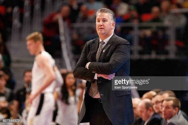 Purdue Boilermakers head coach Matt Painter watches the action on the court during the NCAA Division I Men's Championship First Round basketball game...