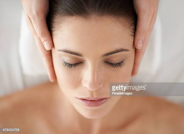 pure bliss - massage stock photos and pictures