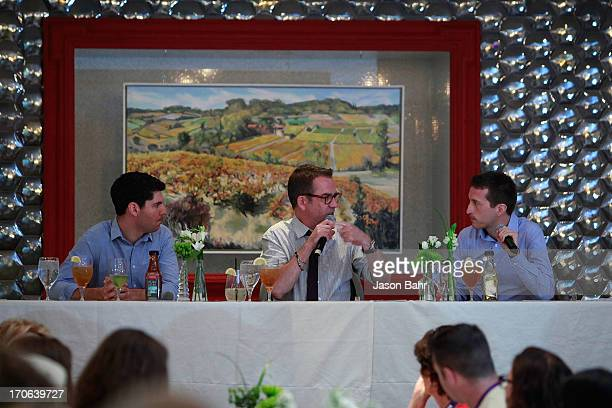 Pure Leaf panelists Ted Allen Scott Heimendinger and John Cheetham speak about the science of food pairings at the Pure Leaf Science of Pairings...