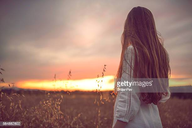 pure magic - long hair stock pictures, royalty-free photos & images