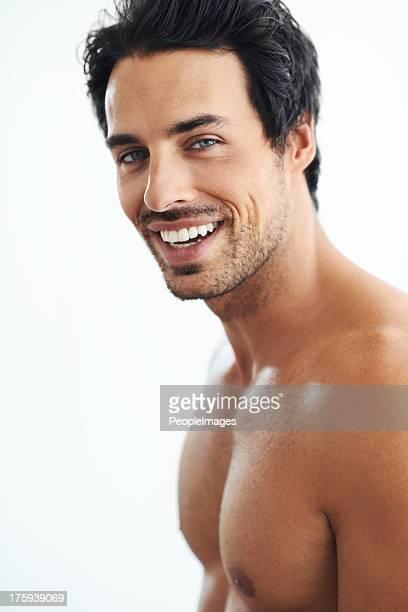 pure masculinity - naakte man en profiel stockfoto's en -beelden