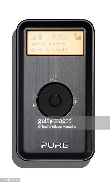 A Pure Move 2500 Rechargeable Personal Digital DAM/FM radio photographed during a studio shoot for Official Windows Magazine January 21 2013