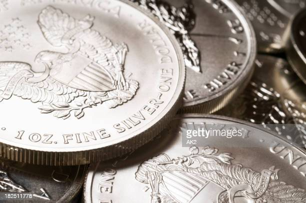 Pure silver bullion coins