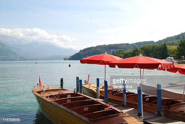 pure water - lake annecy stock photos and pictures