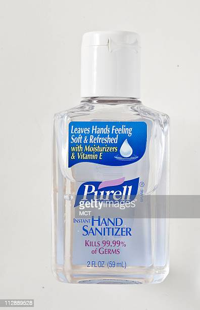 Purell hand sanitizer available at most drugstores does not leave residue after its rubbed in