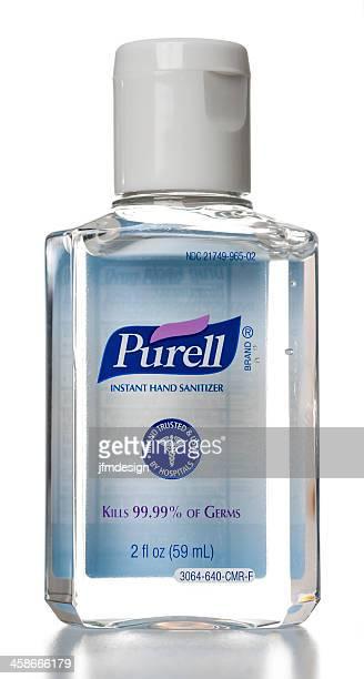 purell de mãos instantâneo a garrafa de higienizante - alcool gel imagens e fotografias de stock