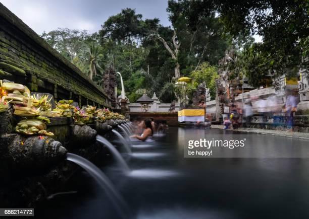 Purification ceremony in Tirta Empul