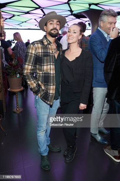 Purisa Safay and Sina Tkotsch attend the PEARL Model Management Fashion Aperitif at The Reed on January 13 2020 in Berlin Germany