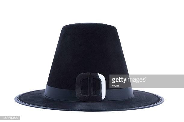 puritan's hat - pilgrim stock pictures, royalty-free photos & images