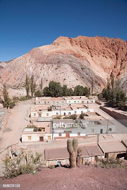 Purmamarca And The Upper Cretaceous Yacoraite Formation Of Cerro De Los Siete Colores , Jujuy, Argentina
