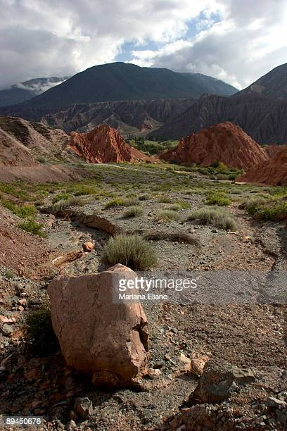 Purmamarca Jujuy Province Argentina Paseo de los Colorados An approximately three kilometres long path leaving the village following for a while the...