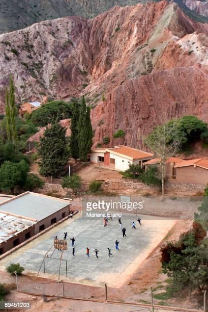 Purmamarca, Jujuy Province. Argentina The Cerro de los Siete Colores are located in the village of Purmamarca, portal to the Quebrada de Humahuaca .