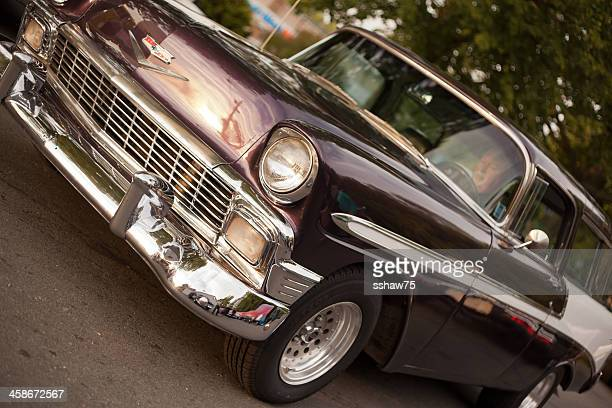 purple 1956 chevrolet nomad station wagon - bedford nova scotia stock pictures, royalty-free photos & images