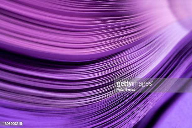 purple abstract background made with paper quilling - the media stock pictures, royalty-free photos & images
