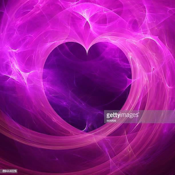 Purple abstract  heart