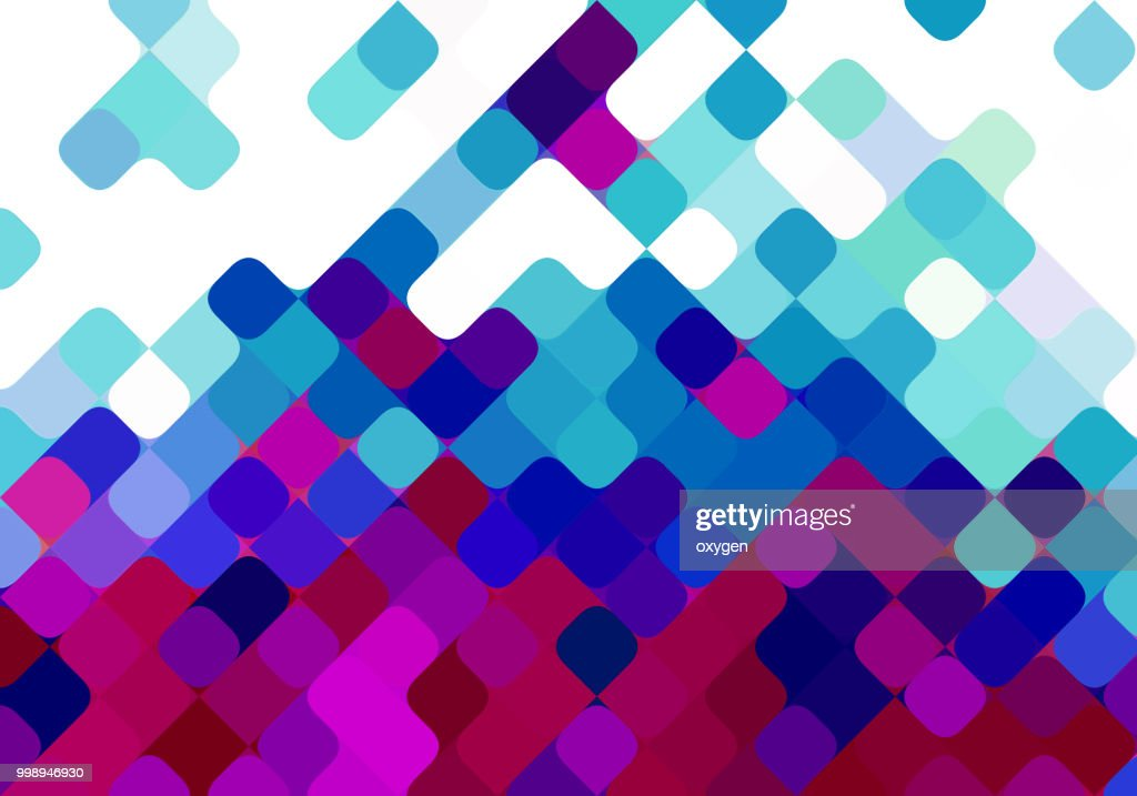 Purple and blue seamless diagonal square pattern background design : Stock Photo