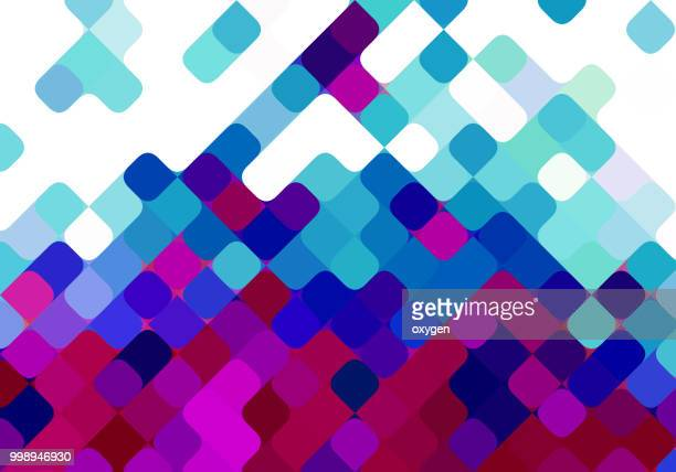 purple and blue seamless diagonal square pattern background design - flyer leaflet stock photos and pictures