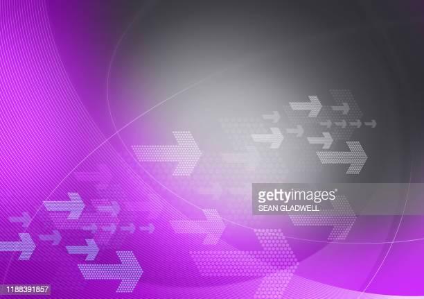purple and grey graphic arrows - elemento del design foto e immagini stock