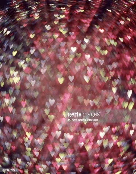 Purple Blue And Green Hearts Digital Image