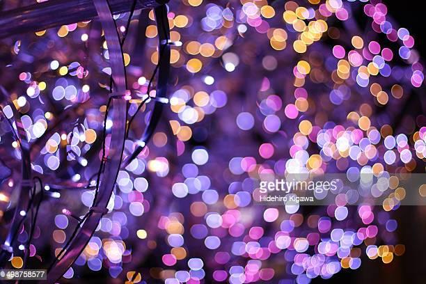 Purple bokeh balls
