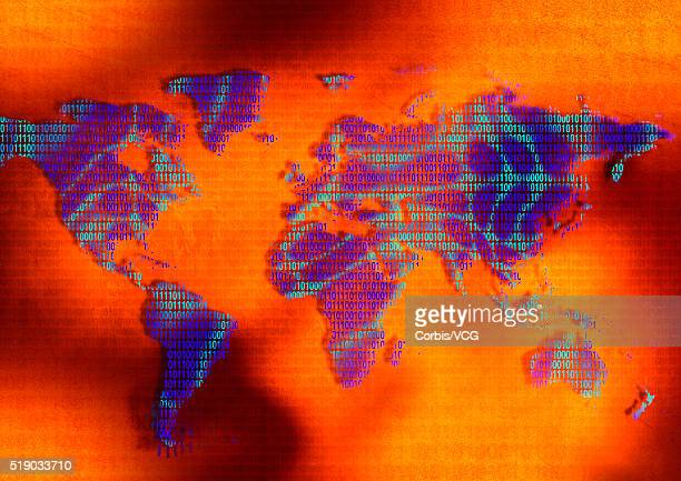 Purple Continents Made Up of Binary Numbers