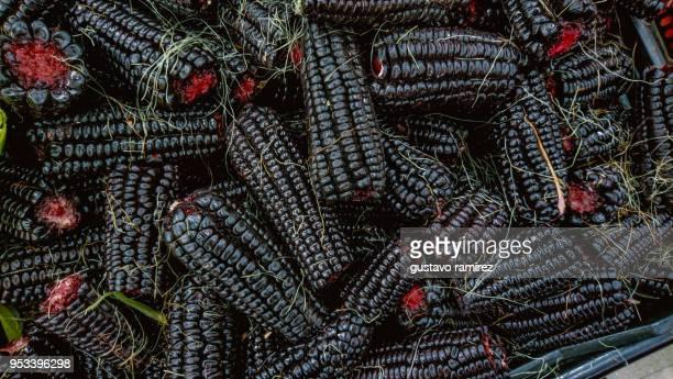 purple corn - comida peruana fotografías e imágenes de stock