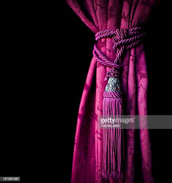 purple curtain - tassel stock pictures, royalty-free photos & images