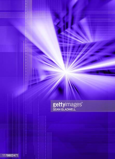 purple digital light burst - vertical stock pictures, royalty-free photos & images