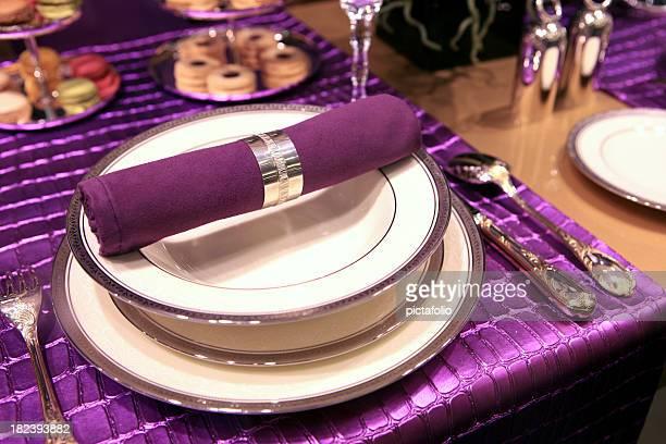 purple fancy table